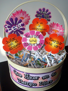 Free Time Choices Flower Display by Ms. Green