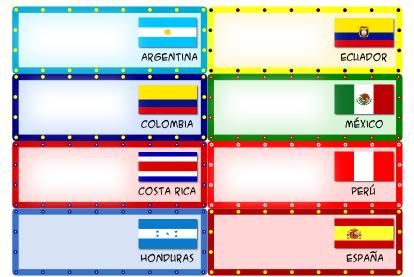 Freebie – Spanish Country Name Tags
