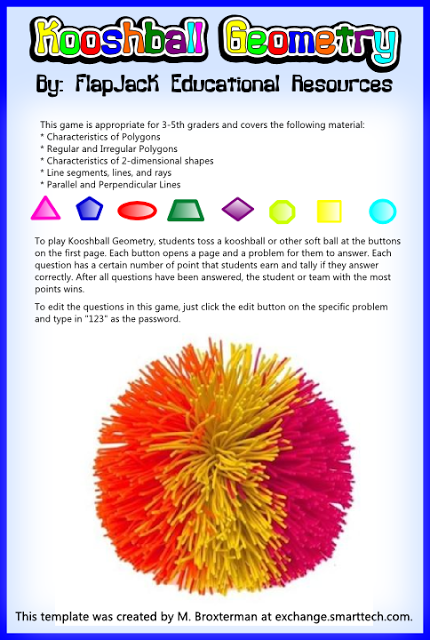 Kooshball Geometry Smartboard Game Freebie