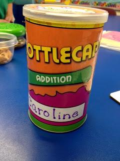 Math Facts Bottle Cap Labels Giveaway!