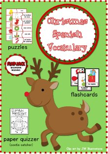 Christmas Spanish Vocabulary FREEBIE