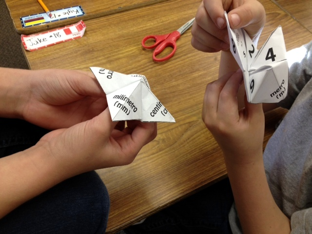 Measurement Paper Quizzers (Cootie Catchers)