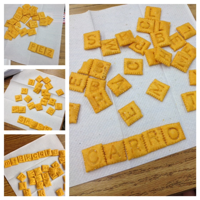 Spanish Word Fun with Cheez-It Crackers