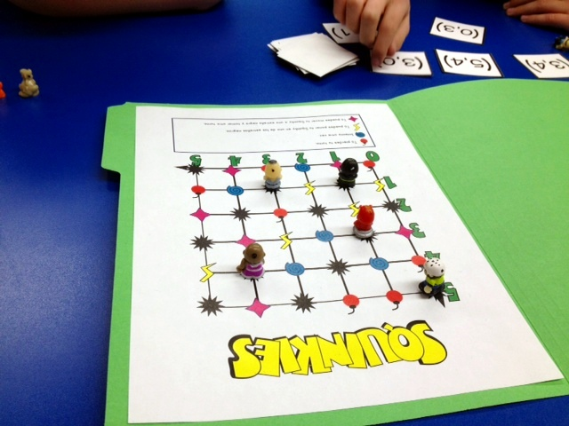 Squinkies! Coordinate Points Graphing FREEBIE