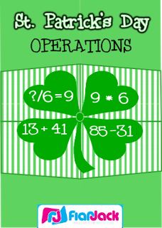 FlapJack's St. Patrick's Day Freebies! (Math and Spanish)