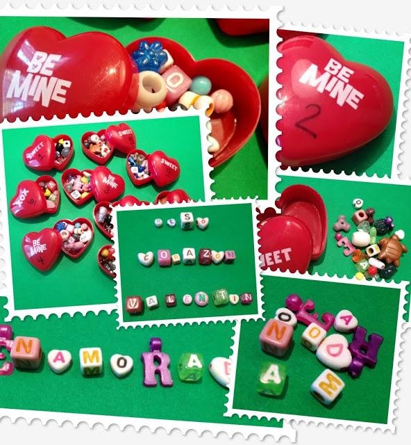 Valentine Word Hearts