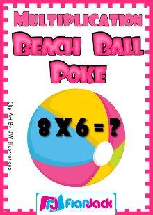New Multiplication Poke Game FREEBIE!