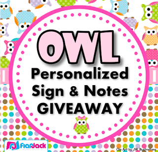 Personalized Owl Sign and Cards GIVEAWAY!
