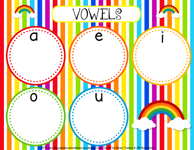 Rainbow Vowel Mat Freebie & New Sight Word Title