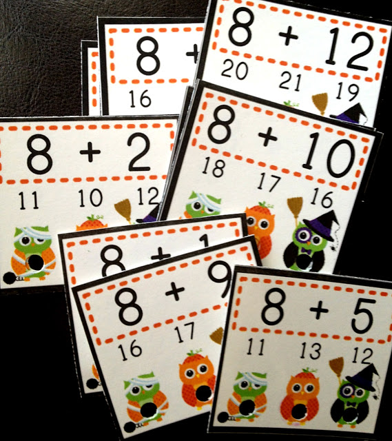 "H""OWL""oween Poke Math Games and FREEBIE"