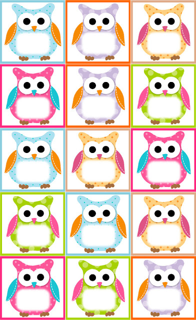 Owl Lapbook Birthday Card Free Owl Label Templates