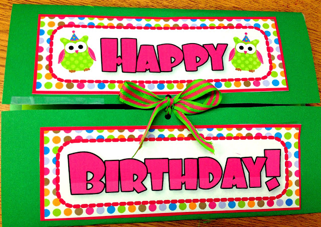 Owl Lapbook Birthday Card (Free Owl Label Templates)