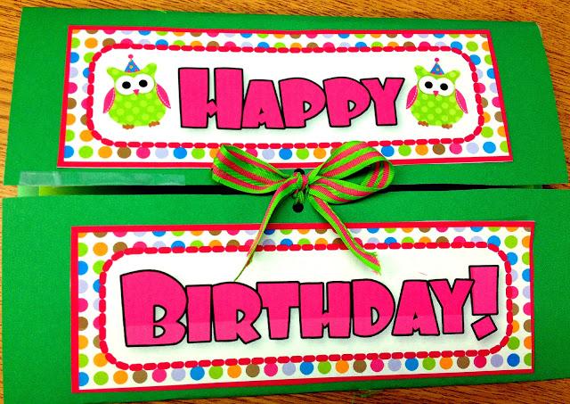 Owl Lapbook Birthday Card (Free Owl Label Templates)