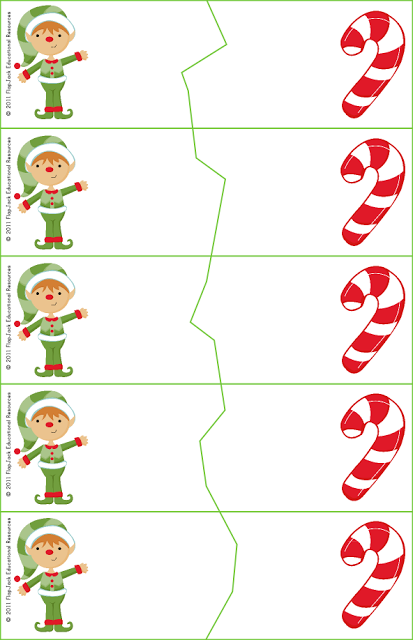Elf Puzzle Template Freebie & Other Holiday Titles