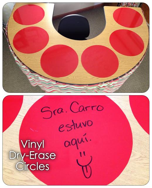 Vinyl Dry-Erase Circles