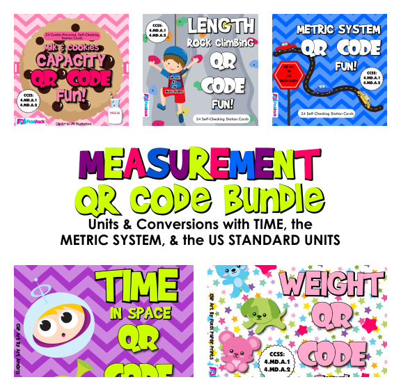 Measurement Unit & Conversions QR Code Fun Pack