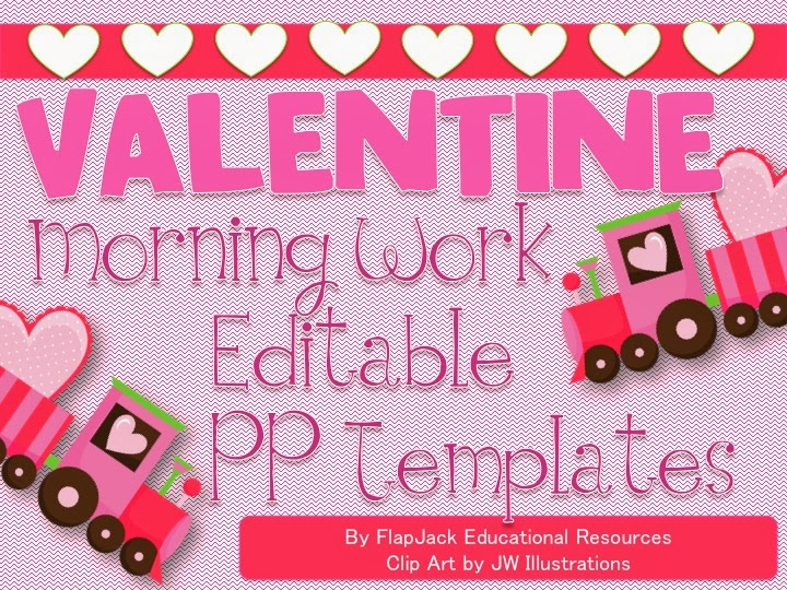 http://www.teacherspayteachers.com/Product/Editable-VALENTINES-DAY-Themed-Morning-Work-PowerPoint-Templates-1067405