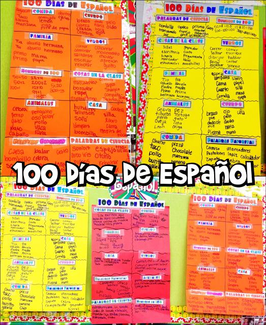 100 Dias de Espanol (100 Days of Spanish) Posters