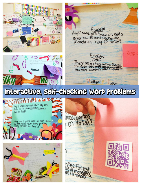 Interactive Word Problem QR Code Posters