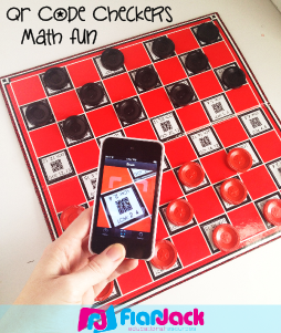 QR Code Checkers Math Fun Freebie