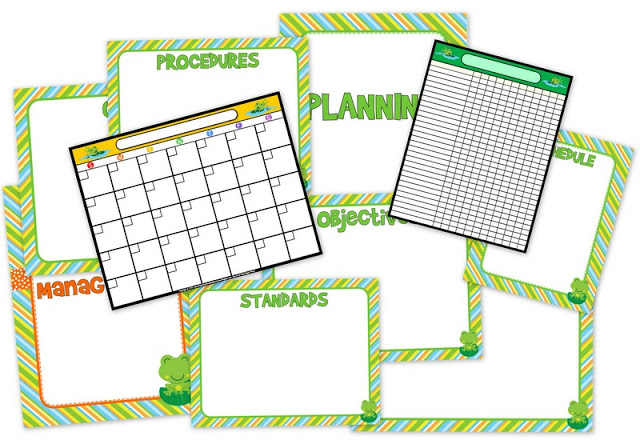 Frog Themed Classroom Management FREEBIES and Materials Pack