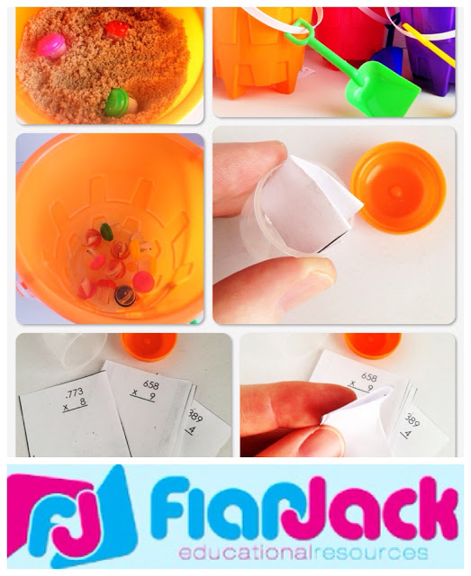 Sand Bucket Math Center Fun