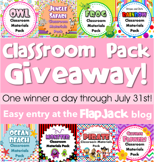 FlapJack Classroom Materials Pack Giveaway