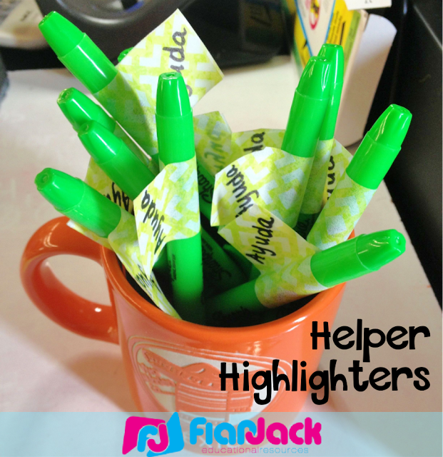 Helper Highlighters for Early Finishers