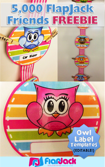 Hanging Editable Owl Circle Templates Freebie for 5,000 FlapJack Facebook Friends!