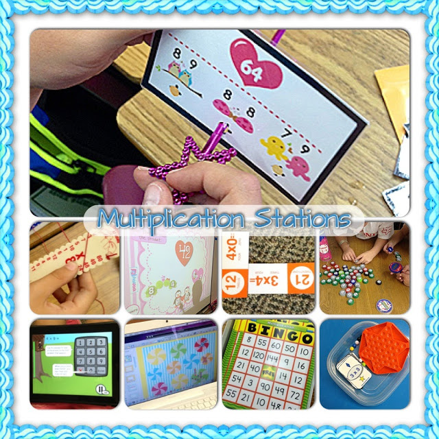 Multiplication Fact Center Station Ideas