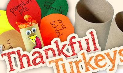 Toilet Tube Thankful Turkeys Tutorial and Free Printables (Spanish, too!)