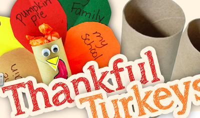 Toilet Tube Thankful Turkeys Tutorial and Free Printables (Spanish, too!)