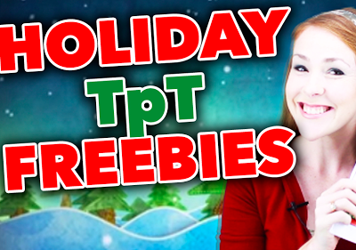 Holiday TpT Freebies Compilation Video!!