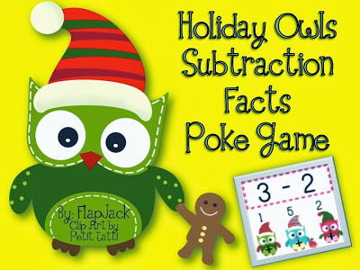 http://www.teacherspayteachers.com/Product/HOLIDAY-Owl-SUBTRACTION-Facts-Poke-Game-995583