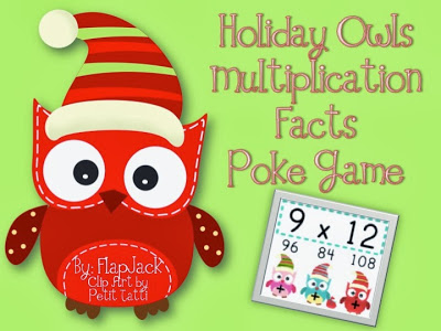 http://www.teacherspayteachers.com/Product/HOLIDAY-Owl-MULTIPLICATION-Facts-Poke-Game-995569