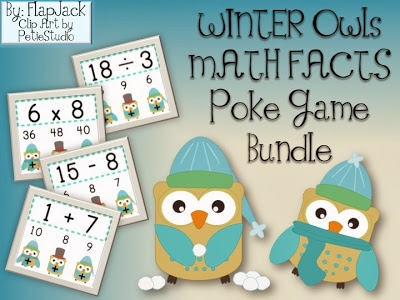 WINTER Owls Math Facts Poke Bundle Giveaway!