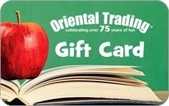 $20 Oriental Trading Ecard GIVEAWAY!