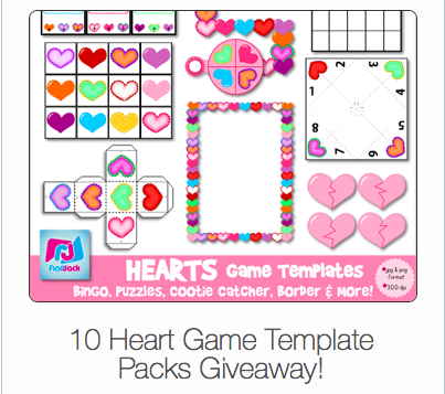 Heart Game Templates GIVEAWAY!!