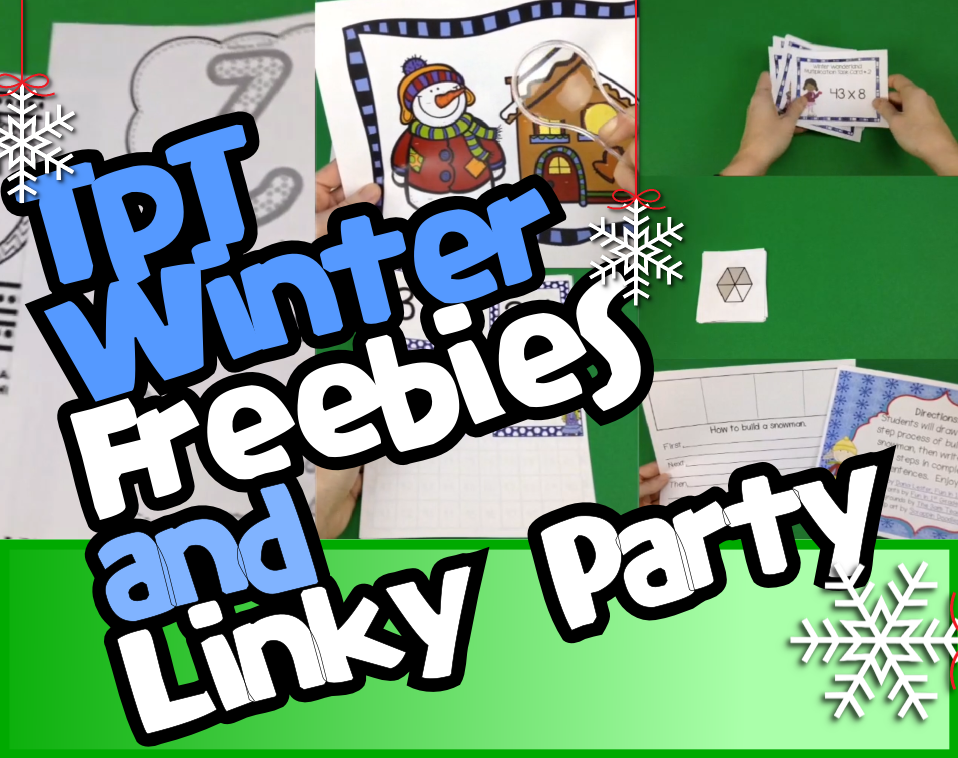 TpT Winter Freebies Video and Linky Party – Check it out and link up!