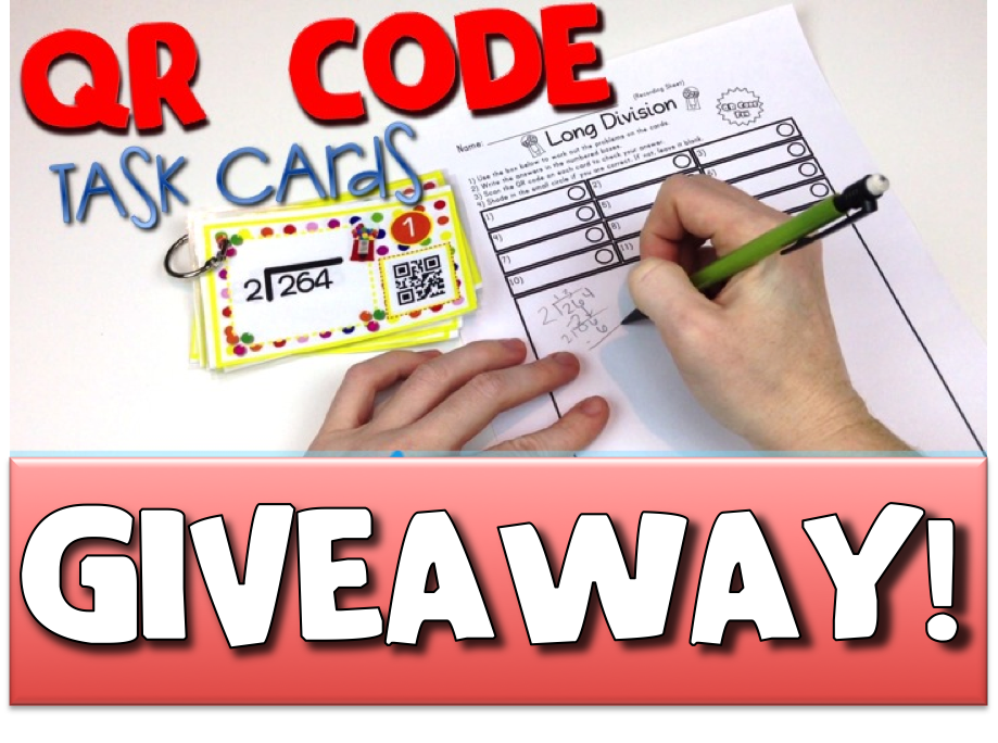 QR Code MATH Task Cards Bundles GIVEAWAY!