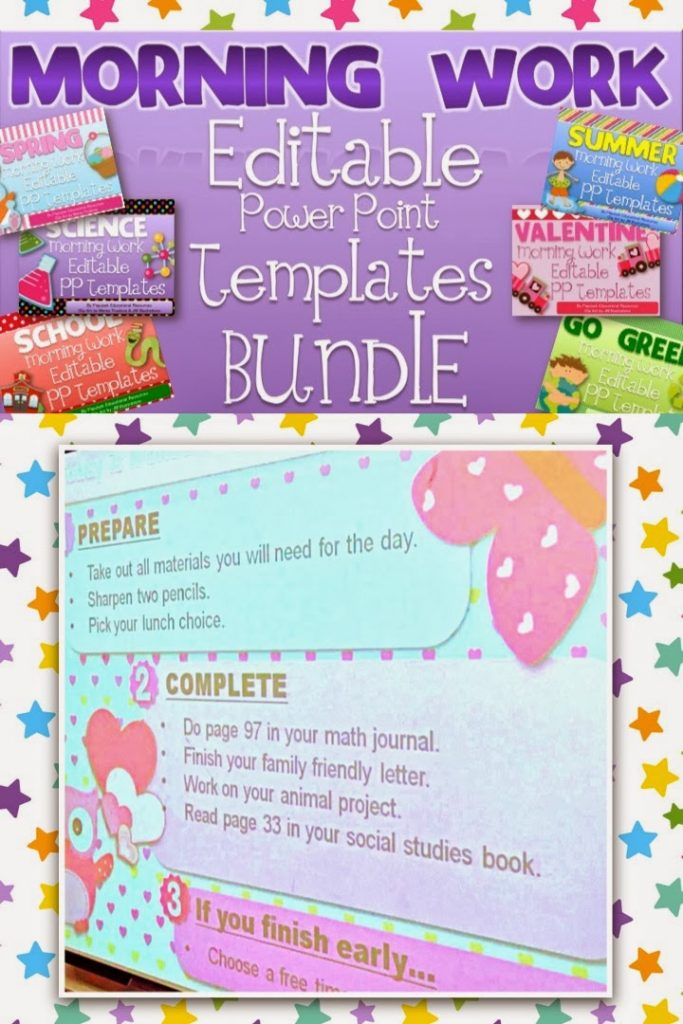 Morning Work PowerPoint Templates Giveaway!