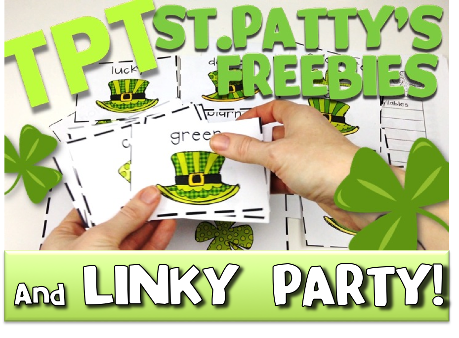 St. Patrick's Day TpT Freebies Video and Linky Party!