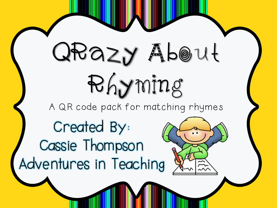 https://www.teacherspayteachers.com/Product/QR-Codes-QRazy-About-Rhyming-785748