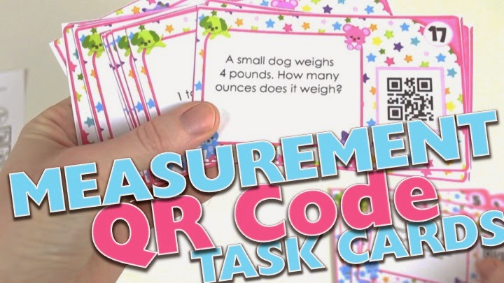 Measurement Conversions QR Code Task Cards Video