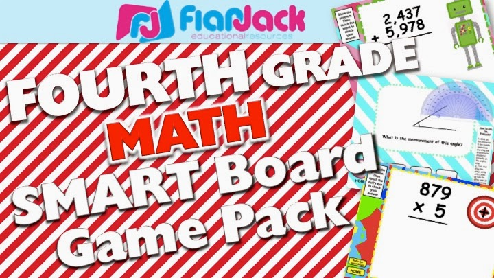 Fourth Grade Math Smart Board Game Pack Video