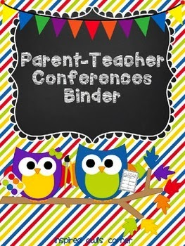 Guest Post by Inspired Owl with Parent-Teacher Conferences Binder FREEBIE