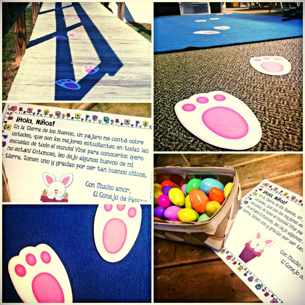 Delivery and Letter Freebie from the Easter Bunny! In Spanish, too!