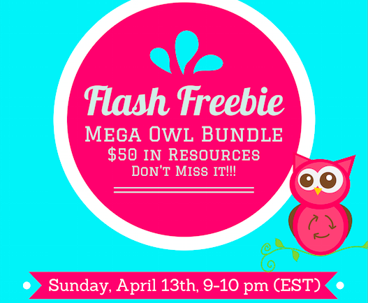 Owl Mega Bundle FLASH FREEBIE at 9:00 Tonight!