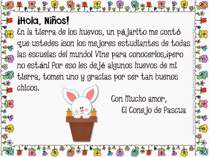 http://www.teacherspayteachers.com/Product/Easter-Bunny-Letter-to-Students-Freebie-English-and-Spanish-1204280