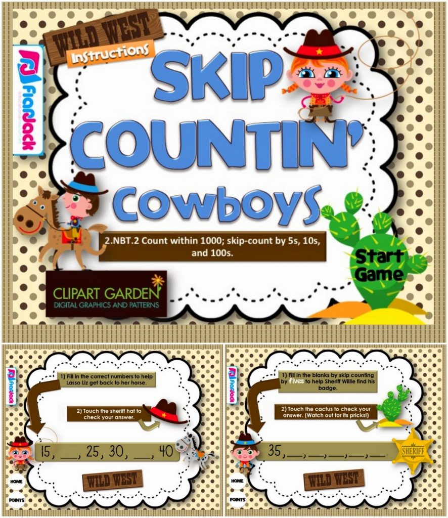 https://www.teacherspayteachers.com/Product/Skip-Countin-Cowboys-Smart-Board-Game-CCSS2NBT2-1232919